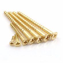 brass wood screws CSK countersunk phillips head M2.5 M3 M3.5 M4 M4.5 self tapping tan deck hand tools woodworking