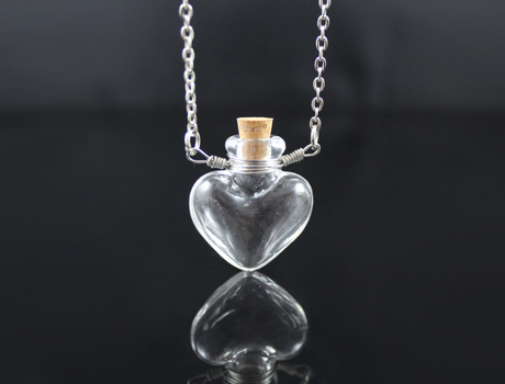 5pcs Wire Wrapped Clear Perfume Bottle Ns