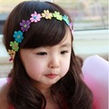 2017 New Fashion1pc Kids Child Children Baby Bebe BB Girl Girls Colorful Flower Flowers Headband Headbands Hair Band Accessories
