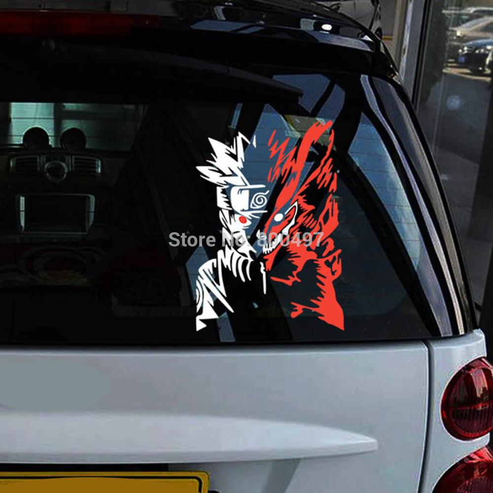 10 x uzumaki naruto car body stickers car decal for toyota ford chevrolet volkswagen tesla honda hyundai kia lada