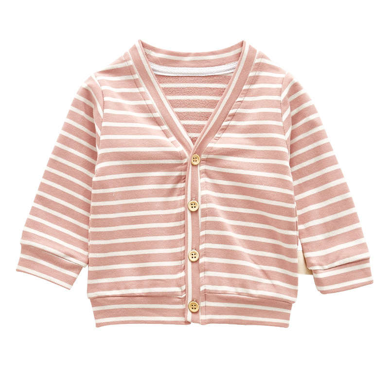 New   Baby Jacket Girls and Boy Striped Spring  Autumn Coat  Baby Outerwear 8BB027