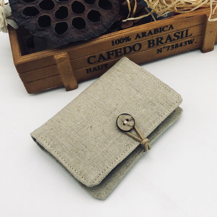 Angelatracy 2019 New Arrival Pure Blank Canvas Card Package Cotton Linen Set Bag Hand-painted Holder CardHolder