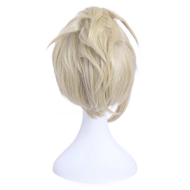 Image 5 - L email wig Game OW D.Va and Mercy Cosplay Wigs Color Brown Beige Heat Resistant Synthetic Hair Perucas Women Cosplay Wigwig colorwig gameswig wig -