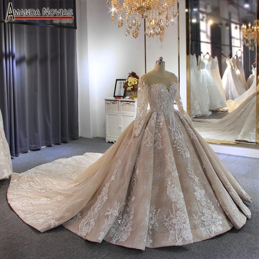 2019 robe de soiree wedding dress amanda novias brand high quality luxury bridal dress custom made colorWedding Dresses   -