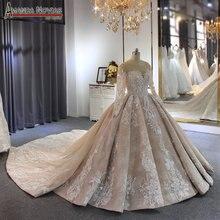2019 로브 드 soiree 웨딩 드레스 amanda novias 브랜드 고품질의 고급 신부 드레스 사용자 정의 만든 색상