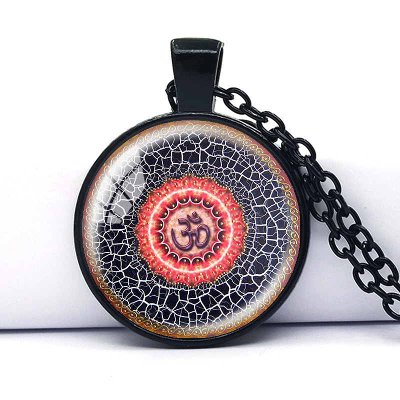 Mandala pendant Religious jewelry Sacred geometry necklace Spiritual amulet