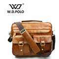 W.D POLO Genuine leather Vintage men messenger bags classical design hot selling high quality mens hand bags easy matching M1839