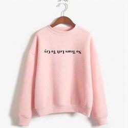 Ariana Grande Sweatshirt No Tears Left To Cry Hoodie Women Print Harajuku God Is A Woman Sweatshirts Pullover Cewneck Warm Tops 1