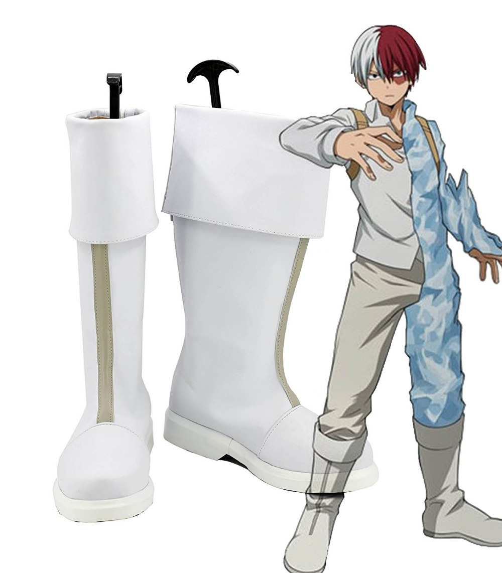My Hero Academia Shoto Todoroki Cosplay Boots Shoes Boku no Hiro Akademia Handmade Shoes European Size
