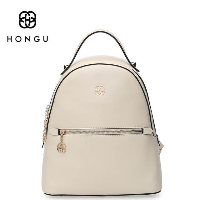 a2a924d2254c Online Shop HONGU Famous Brands Women Backpack Ladies Shoulder Bags Fashion  Leisure Upscale Genuine Leathe Bag For College Casual Versatile