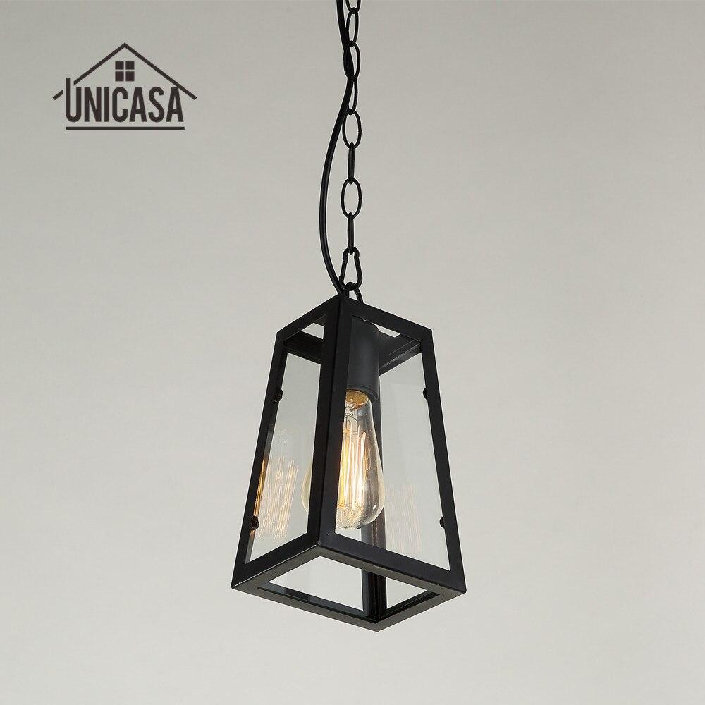 ФОТО Black Antique Pendant Lights Wrought Iron Lighting Office Hotel Bar Kitchen LED Light Vintage Industrial Pendant Ceiling Lamp