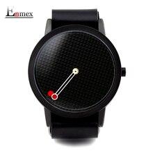 2017 hommes cadeau Enmex brève conception amovible strap géométrique designs Flottants pointeur 3D dail avec jeune de mode montres à quartz