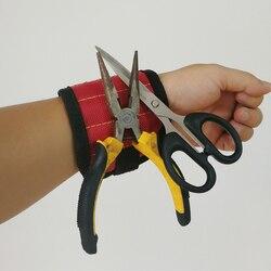 Nylon Werkzeug Tasche Leistungsstarke Magnetische Paste Armband Werkzeug Intake Arm Band Arbeit Armbänder für Auto Reparatur Tasche Gürtel TH4