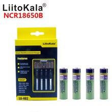 liitoKala Original USB 18650 26650 AAA AA Smart Charger + 4pcs 3.7V 18650 3400MAH NCR18650B Li-ion Rechargeable Battery Dropship 2pcs liitokala 3 7v 3400mah 18650 li ion rechargeable battery no pcb lii 202 usb 26650 18650 aaa aa smart charger