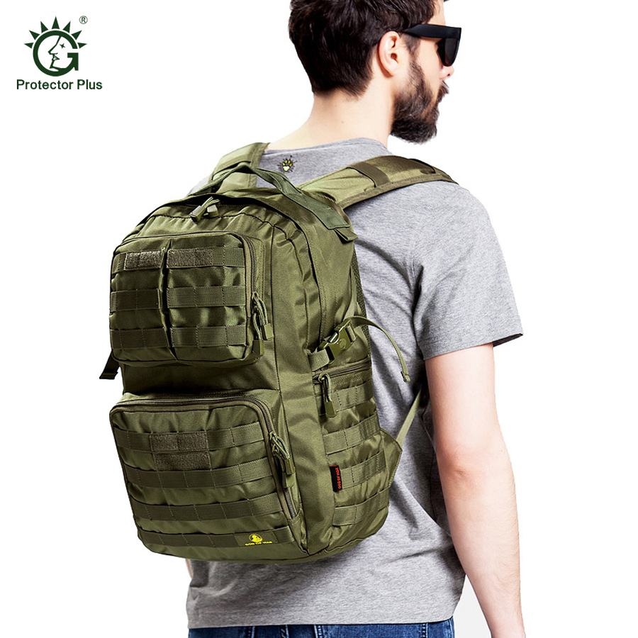 40L Men'S Tactical Backpack Outdoor Bag Camping Hiking Rucksack Molle 600D Waterproof Nylon Sport Travel Bags Military Army Pack 40l 3d outdoor sport nylon military tactical backpack rucksack travel bag camping hiking climbing bag