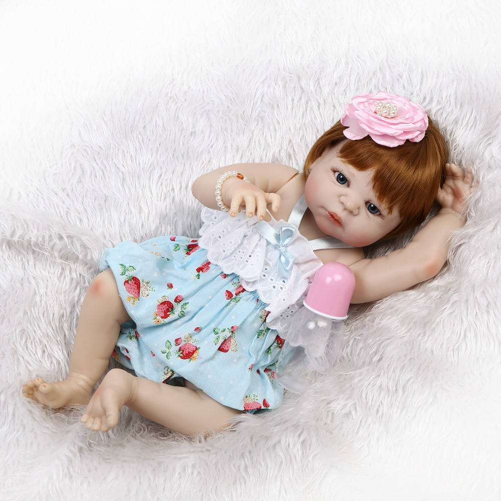 NPKCOLLECTION 22 Popular Victoria Full Silicone Reborn Dolls Lifestyle Soft Princess Doll Reborn Toys For Girls