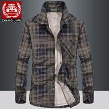 Мужские зимние фланелевые плотные рубашки в клетку, модные хлопковые повседневные рубашки с длинным рукавом, качественные мужские рубашки в британском стиле из флиса, армейские 115