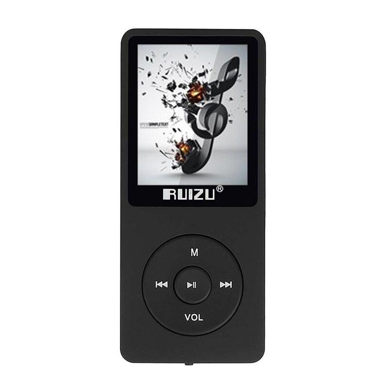 Оригинальный RUIZU X02 спортивных MP3 плеер Динамик Музыка 4 г 1,8 дюймов Экран может играть 100 часа FM/E-Book /часы/Data/Регистраторы