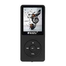 Original RUIZU X02 deportivos MP3 HiFi Altavoz Reproductor de Música 4G 1.8 Pulgadas de Pantalla Puede Jugar 100 horas FM/E-Book/Reloj/Data/Grabador