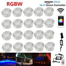 20X WIFI تحكم الموقت 45 مللي متر 12 فولت RGB RGBW ساحة شرفة LED سطح السفينة درج Soffit خطوة أضواء ل اليكسا Googlehome IFTTT الهاتف App
