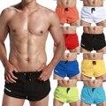 Sexy dos homens Correndo Calças Curtas Quick Dry Calções Basculador Masculina Fina Shorts de Ginástica Homens Respiráveis Boxers Aptidão Esporte Curta homme