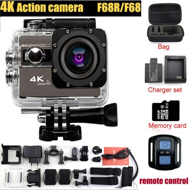 ФОТО  F68/F68R Action Camera Novatek 96660 4K 24FPS 20MP Voice Alert Night Shot WIFI video Camera Remote Control Mini Camera