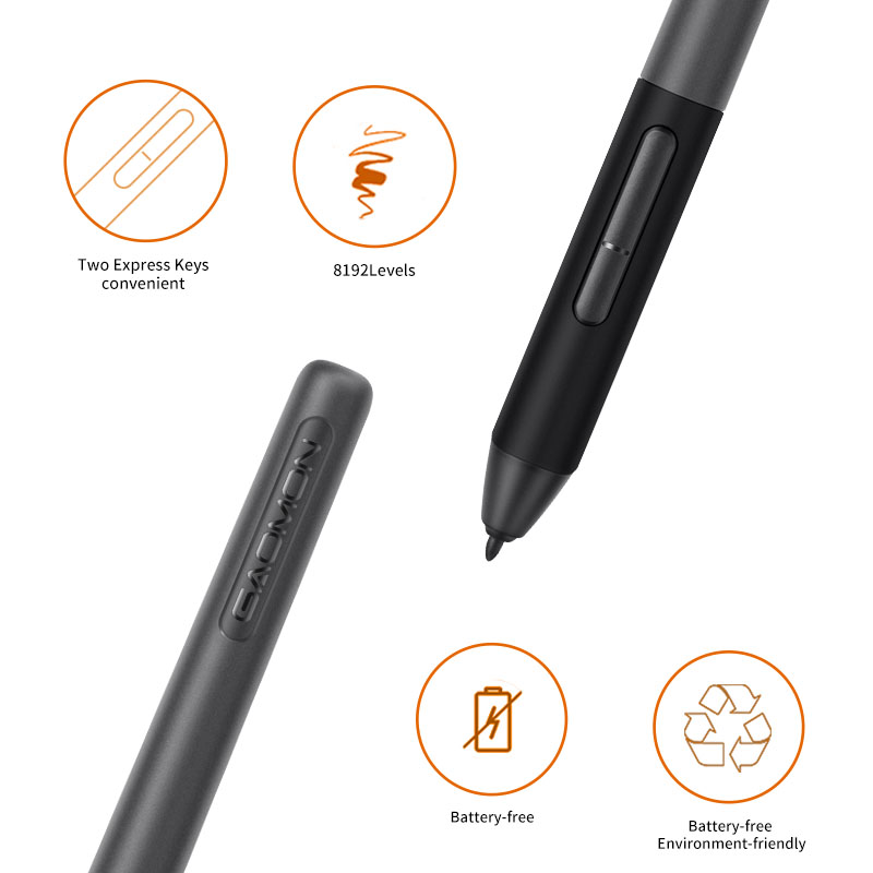 GAOMON PD1161 IPS HD Graphics Drawing Digital Tablet with 8192 Level Pen Pressure Passive Stylus (Black) 1