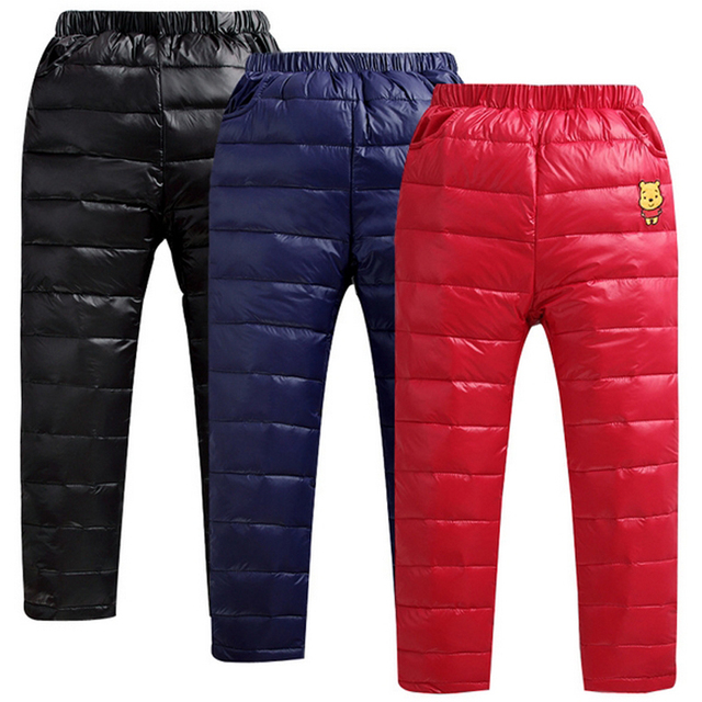 32a15cf55 Toddler Baby Boys Girls Winter Down Pants Children Outerwear Thicken ...