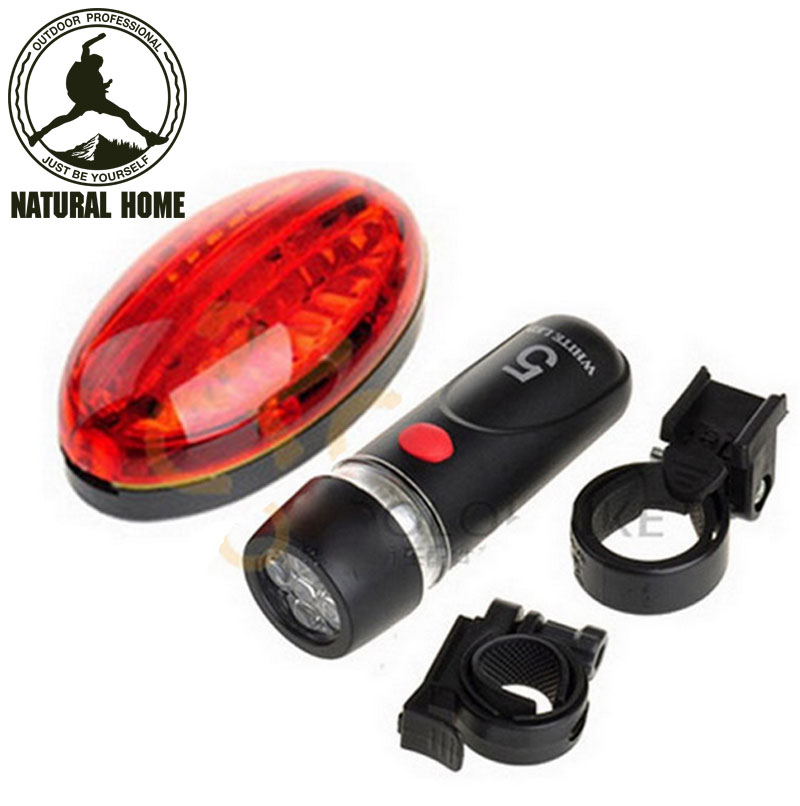 Outdoor Bright LED Front Rear Light Traffic signal lights Sport Brand New Bicycle Lights + holder Set(China (Mainland))