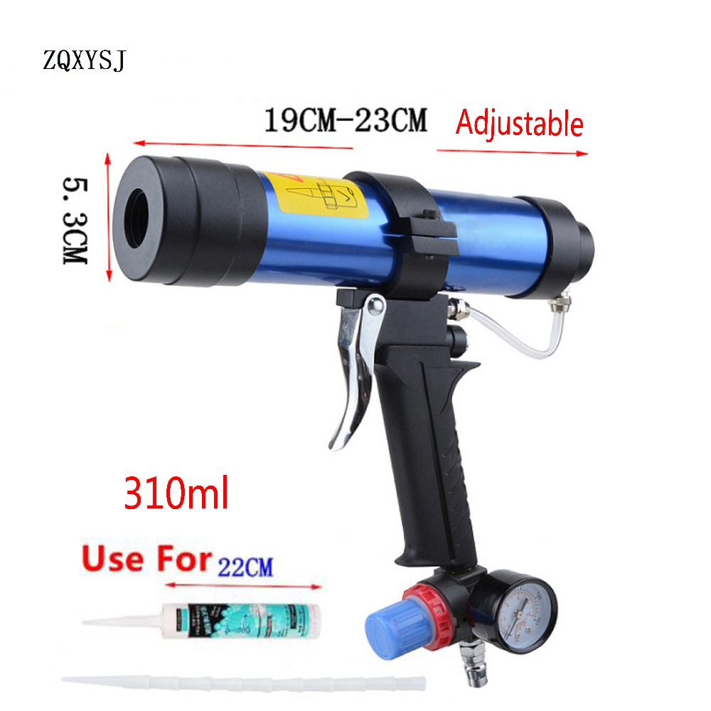 ZQXYSJ 310ml Cartridge Gun Paint & Decorating Pneumatic Caulking Gun Glass Glue Air Rubber Guns Tools  Sealant Finishing Tools