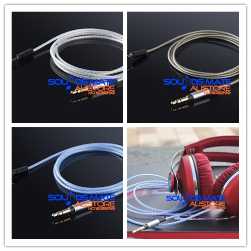 Upgrade Silver Plated OFC Cable For Sennheiser Momentum Over Ear On Ear Headphone 3 Color Select