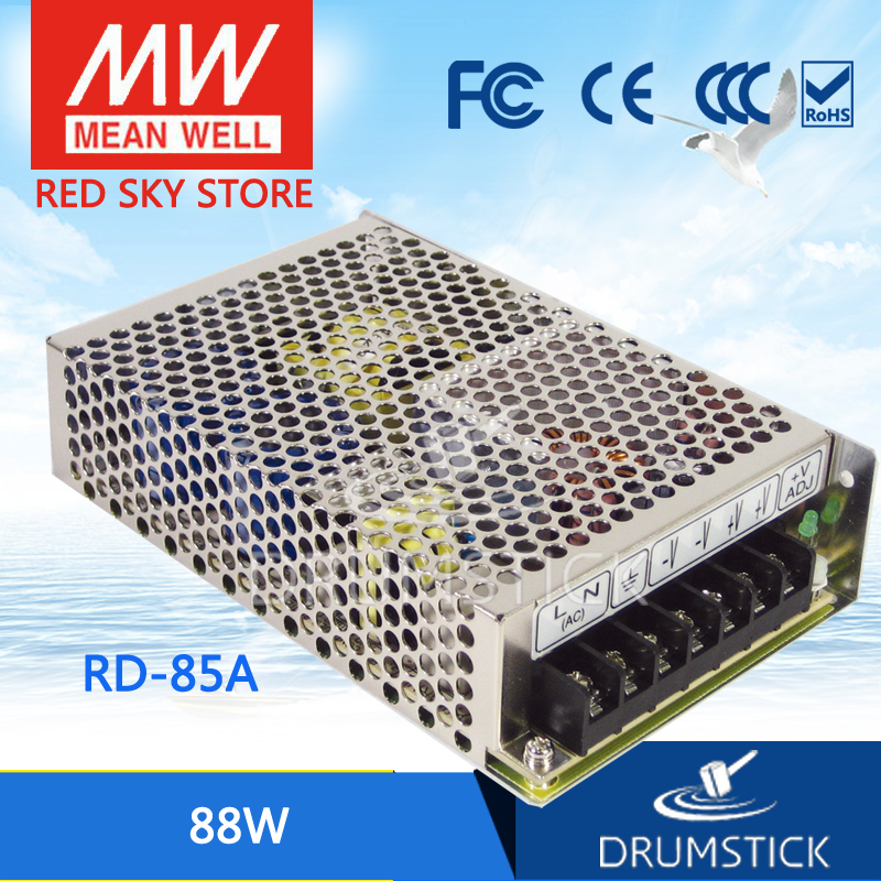 Genuine MEAN WELL original RD-85A meanwell RD-85 88W Dual Output Switching Power Supply original mean well rd 35b 35w 5v 24v dual output meanwell power supply