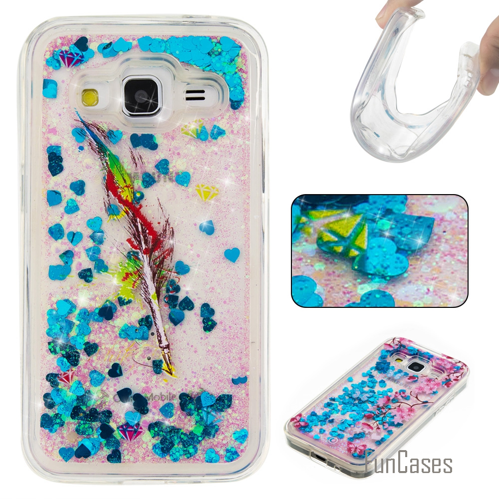 Funda Cute Quicksand Soft TPU Case For Samsung Galaxy G360 Coque Cartoon Phone Case Carcasa Etui Ajax Caso For Samsng Core Prime
