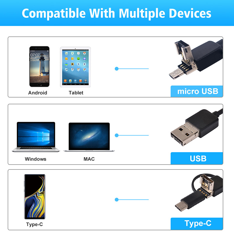 1920 1080 Newest USB Snake Inspection Camera 2 0 MP IP68 Waterproof USB Type C Endoscope 1920*1080 Newest USB Snake Inspection Camera 2.0 MP IP68 Waterproof USB Type-C Endoscope with 8 LED for Samsung Huawei Xiaomi PC