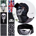 Hot Punk New 3 in1 Men Women Unisex Skull Hat Neck Warmer Tube Snood Face Mask Cap bonnet Scarf Beanie Balaclava Halloween Cheap