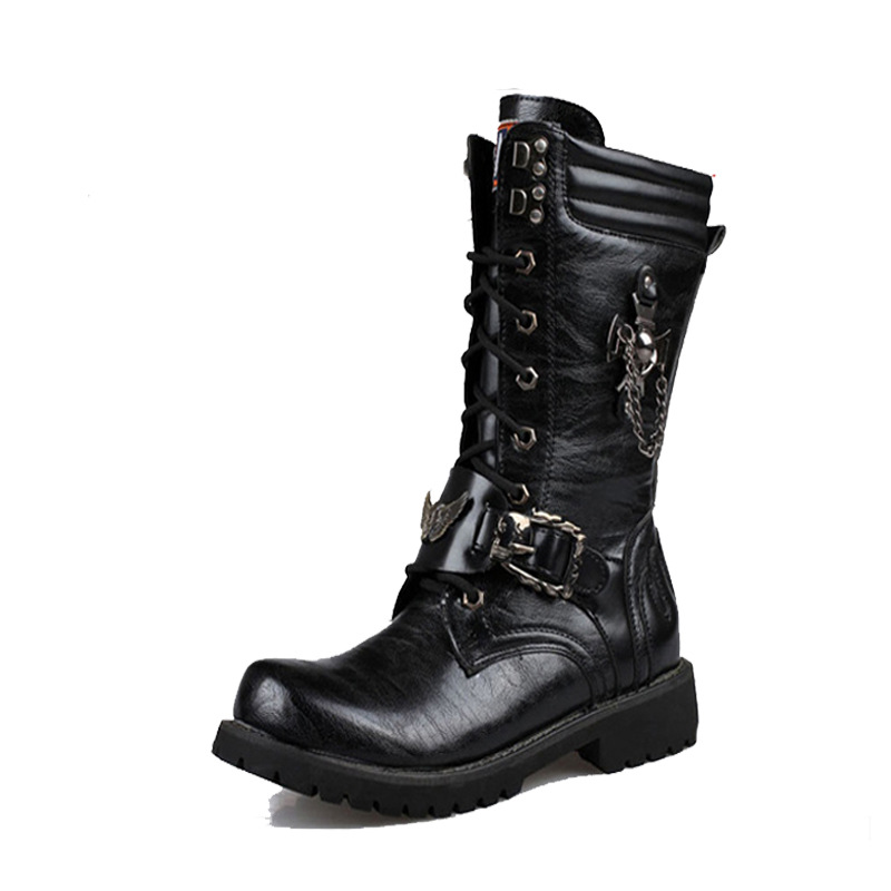 2019 men 39 s Martins boots trade long barrel high boots Korean version of British mens size combat boots Yasilaiya in Basic Boots from Shoes