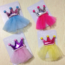 Get more info on the 2019 Women Girls  2PCS Hair Clips Girls Imperial Crown Princess Leather Hair Style Buckle Accessories    5.24DJL