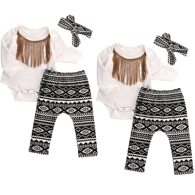 baby clothes girsl kids clothing set romper+ pants+headwear 3pcs Infant ensemble bebe fi ...