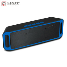 Magift208 Bluetooth Wireless Speaker Support TF Card FM Radio 3.5mm Audio Cable Handsfree Portable Speakers Outdoor Subwoof