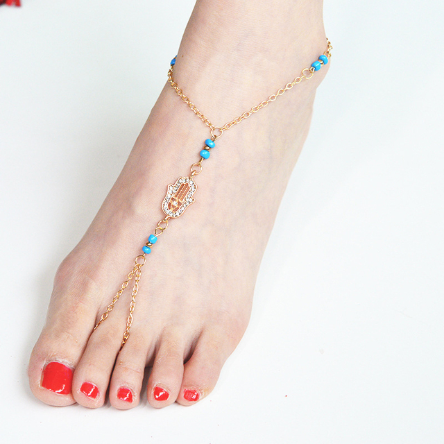 under crystals dhgate com beach beautiful anklet vintage plated creative bracelet sandals jewelry gold anklets best antique flowers product legs full turkish cool