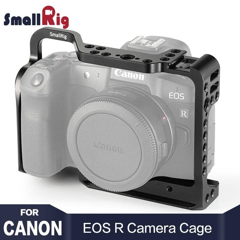 SmallRig Gabbia Fotocamera per Canon EOS R con Fredda Shoe Mount Fori Filettati per la Magia Braccio Microfono Collegare 2251