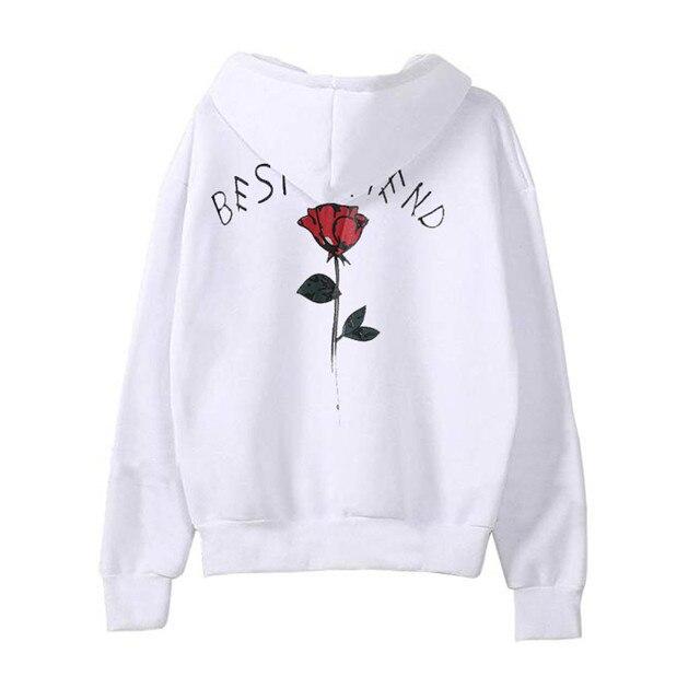 Womens Best Friend Long Sleeve Hoodie Sweatshirt Hooded Pullover Tops  Blouse sudadera mujer Sweatshirt Autumn Winter Clothes 853867b174
