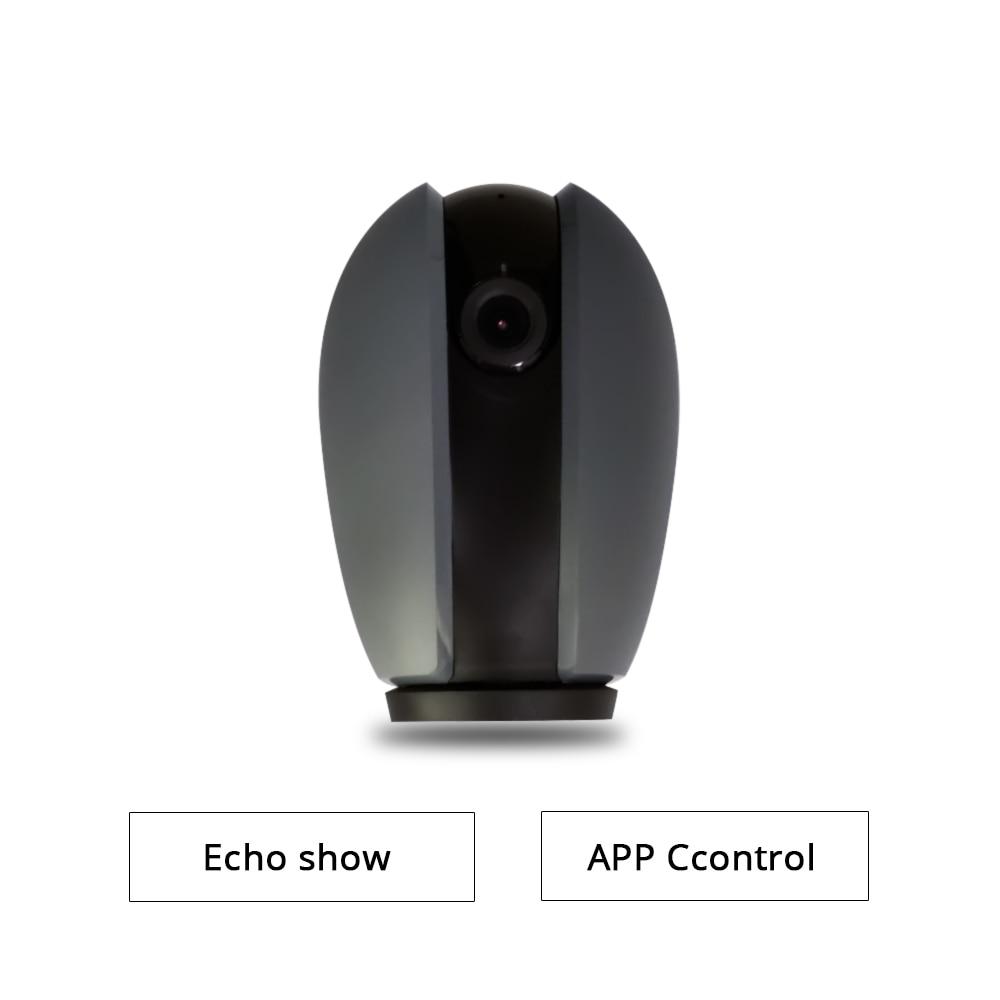 2018 nouvelle Caméra wifi Fonctionne avec Alexa Echo Show 720 p Soutien à Deux voies Audio Carte SD Vue de Nuit moniteur de mouvement Contrôle APP
