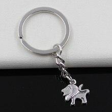 Keychain 16x15mm Lion Pendants DIY Men Jewelry Car Key Chain Ring Holder Souvenir For Gift