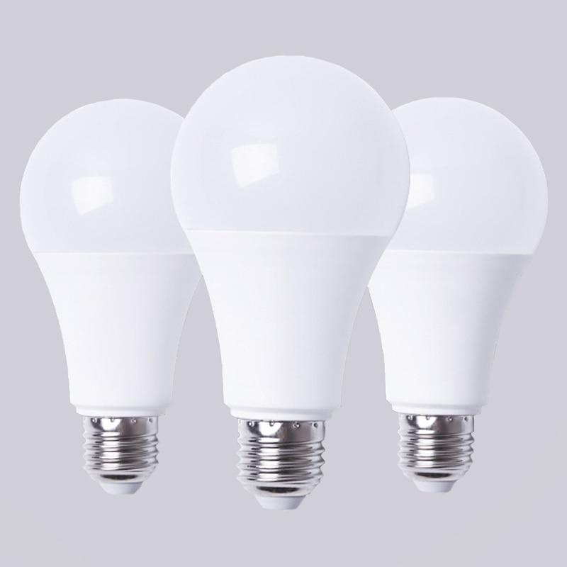 220V LED Bulb E27 B22 LED Lamp 3W 5W 7W 9W 12W 15W 18W Lampada Warm White Light Led For Home Bedroom Garden Lighting Decoration