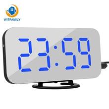 Horloge numérique de Table avec commande vocale, affichage en grand nombre, nixie, horloge numérique de Table et de bureau, avec commande vocale, LED
