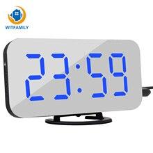 LED Stimme Kontrollieren Große Wecker große anzahl Display nixieröhren Elektronische Snooze Backlinght Desktop Digitale Tabelle Uhren Uhr