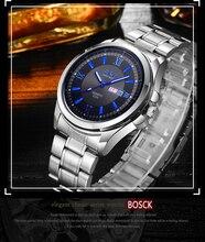 Бренд BOSCK 1181 часы Для женщин модный бренд платье женские часы кожаный нержавеющей Для женщин Сталь аналоговые Роскошные наручные часы
