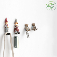 Socket Power Cord plug Storage Rack Cartoon Resin Adhesive Hook Wall-mounted Holder