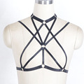 2016 New Free shipping Harajuku women harness garter Gothic  body harness top, cage bra, criss cross straps goth lingerie,